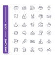 line icons set cafe vector image vector image