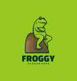 logo frog simple mascot style vector image