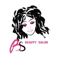 Logo Hairstyle CARD FOR BEAUTY SALON IN vector image vector image