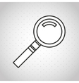 magnifying glass design vector image vector image