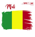 mali flag brush strokes painted vector image vector image