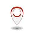 map pointer icon isolated on white gps location vector image vector image