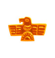 maya civilization symbol ancient totem bird vector image vector image