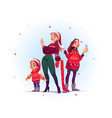 merry christmas and happy new year celebration vector image vector image