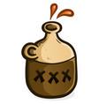 moonshine jug icon vector image vector image