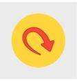 new arrow icon vector image vector image