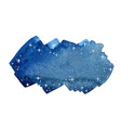 night sky with star banner brush stroke watercolor vector image vector image