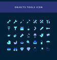 object tool flat style design icon set vector image vector image