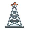oil rig icon cartoon style vector image vector image