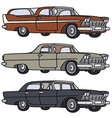 Old big american cars vector image