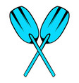 paddle icon icon cartoon vector image vector image