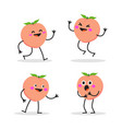 peach character on white background vector image