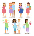 pregnancy motherhood people and expectation vector image