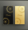 premium mandala style business card design vector image
