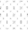 satellite icons pattern seamless white background vector image vector image