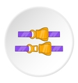 Seat belt icon cartoon style vector image vector image