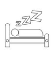 sleeping icon design vector image