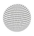 sphere circle binary code icon vector image