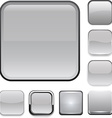 Square grey app icons vector image vector image