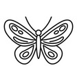 tropical butterfly icon outline style vector image vector image