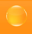 water bubble in orange color background vector image vector image