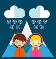 weather condition design vector image vector image