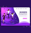 website template design isometric concept vector image vector image
