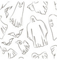whisper ghost hand sketch pattern vector image