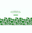 world environment day green leaf icon template vector image