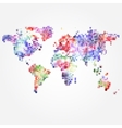 World Map with colored dots of different sizes vector image