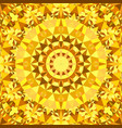 yellow abstract repeating triangle mosaic tile vector image vector image