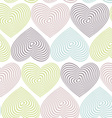 doodle seamless pattern with hearts on white vector image