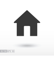 House flat Icon Sign House logo for web design vector image