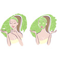 beauty care vector image