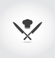 Japanese knives vector image