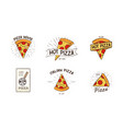 pizzeria logotypes set collection of different vector image