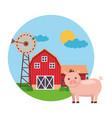 animal barn farm fresh vector image vector image