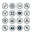 bank icons universal set vector image vector image