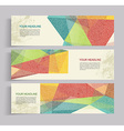 banners with abstract vintage polygonal background vector image vector image