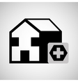 Building hospital cross icon graphic