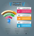 business infographics wi-fi icon vector image vector image