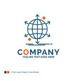 business international net network web logo vector image vector image
