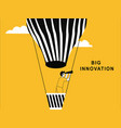 business man on hot air balloon vector image vector image