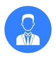 Businessman icon black Single avatarpeaople icon vector image vector image