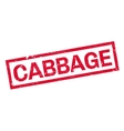 Cabbage rubber stamp vector image vector image