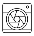camera with aperture thin line icon camera vector image