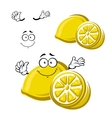 Cartoon happy ripe lemon fruit vector image vector image