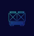 chiller cooling system line icon vector image