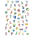 Colorful alphabet letters and fonts vector image vector image