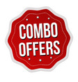 combo offers label or sticker vector image